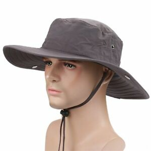 7313921a157 Wide Brim Fishing Sun Hat for Men UPF 50 Sun Protection Outdoor Sun ...