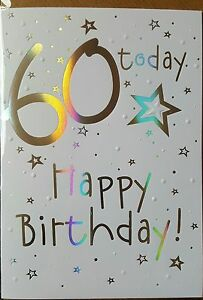 Image Is Loading 60 TODAY HAPPY BIRTHDAY 60th CARD