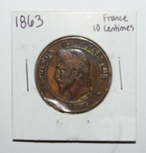 1863-10-Centimes-France-High-Value-Vintage-Coin