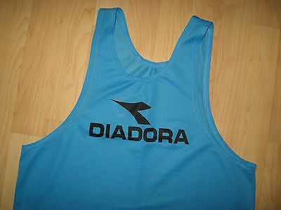Diadora Tank Top - Football Rugby Soccer Running Cycling Mesh Jersey Shirt L/XL