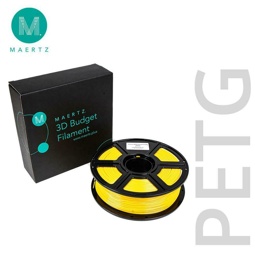Maertz budget PETG Filament Black White Blue Red Green Yellow 1,75mm 2,85mm 1kg