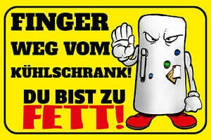 Finger Away by The Refrigerator Tin Sign Shield Arched 20 X 30 CM W1161