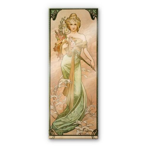 Jahreszeiten Acrylglasbild Mucha Der Frühling Wandbild Wanddeko farbecht