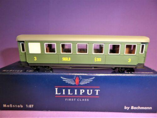 """Personenwagen für Schmalspur LILIPUT H0e L375510 /""""C//s 203/"""" SKGLB 4achs"""