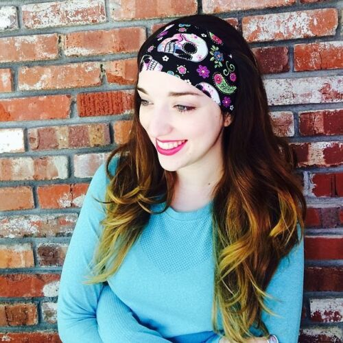 Fit Chic wide Headband with Bolder colors fitness yoga athletic band non slip