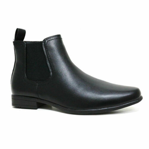 MENS CHELSEA BOOTS DEALER ANKLE SMART WORK OFFICE PARTY CASUAL ZIP UP SHOES SIZE