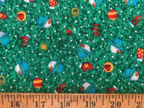 Cotton Quilt Fabric Christmas Snowman Possibilities by Smith/&Milligan by 1//2Yard