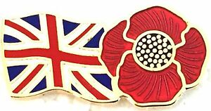 POPPY BRITISH PIN BADGE