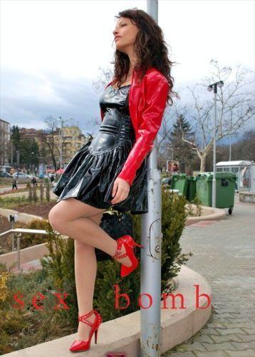 SEXY scarpe decolte rosse lucide borchie tacco 46 13 DAL 35 AL 46 tacco fashion GLAMOUR! 138714
