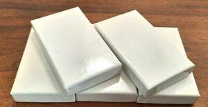 Lot de 5 boîtes blanches cartonnées neuves pour médaille (large)