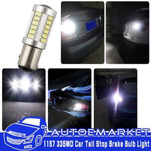 2 x 1157 BAY15D 33 SMD 5630 LED White Light Car Tail Stop Brake Lamp Bulb 6W 12V