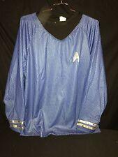 Star Trek 2009 Movie Delux Blue Spock Shirt  Uniform Cosplay Costume L/XL
