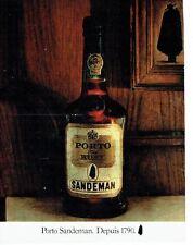 PUBLICITE ADVERTISING 027  1981  le porto fine ruby Sandeman