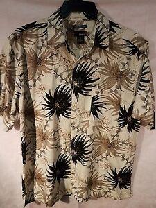 Utopia mens XL Shirt Button down washable silk casual