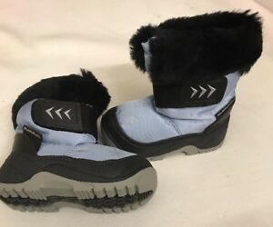 Brand-New-Mammal-Kids-Child-039-s-Snow-Flake-Pale-Blue-Snow-Boot-Eu-18-19-uk-2-3