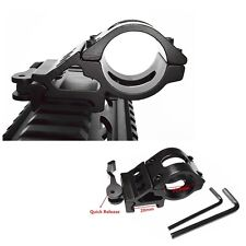 "Tactical 25.4mm 1"" Ring QD Side Offset Rail Scope Mount F Flashlight Torch Laser"