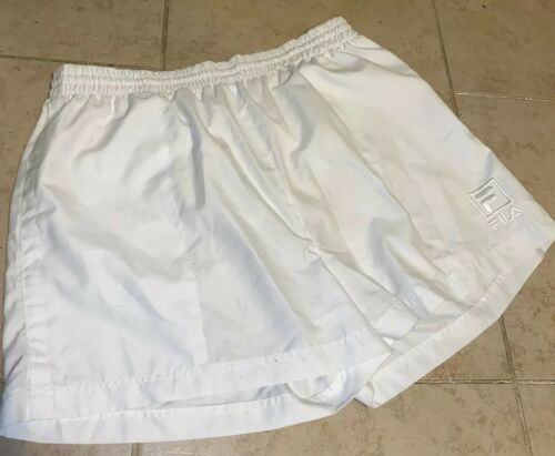 Vintage 80s FILA White TENNIS SHORTS Polyester Men