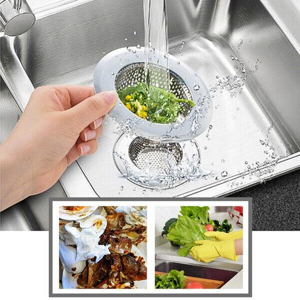 3pcs Stainless Steel Round Sink Strainer Bathroom Filter Net Drain Kitchen  P0CA