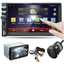 """Android Wifi Quad Core Double 2 Din 7"""" Car Stereo GPS MP5 Player Radio+Camera"""