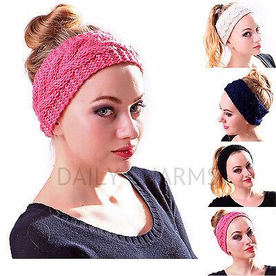 Womens Ear Warmer Twist Knit Soft Braided Crochet Headband Winter Knit Head Wrap