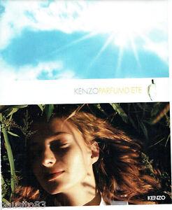 PUBLICITE ADVERTISING 125  2002  KENZO  parfum femme  D' été