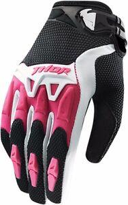 NEW THOR BLACK/PINK WOMENS MX Spectrum Gloves Motocross ATV UTV Dirt Bike