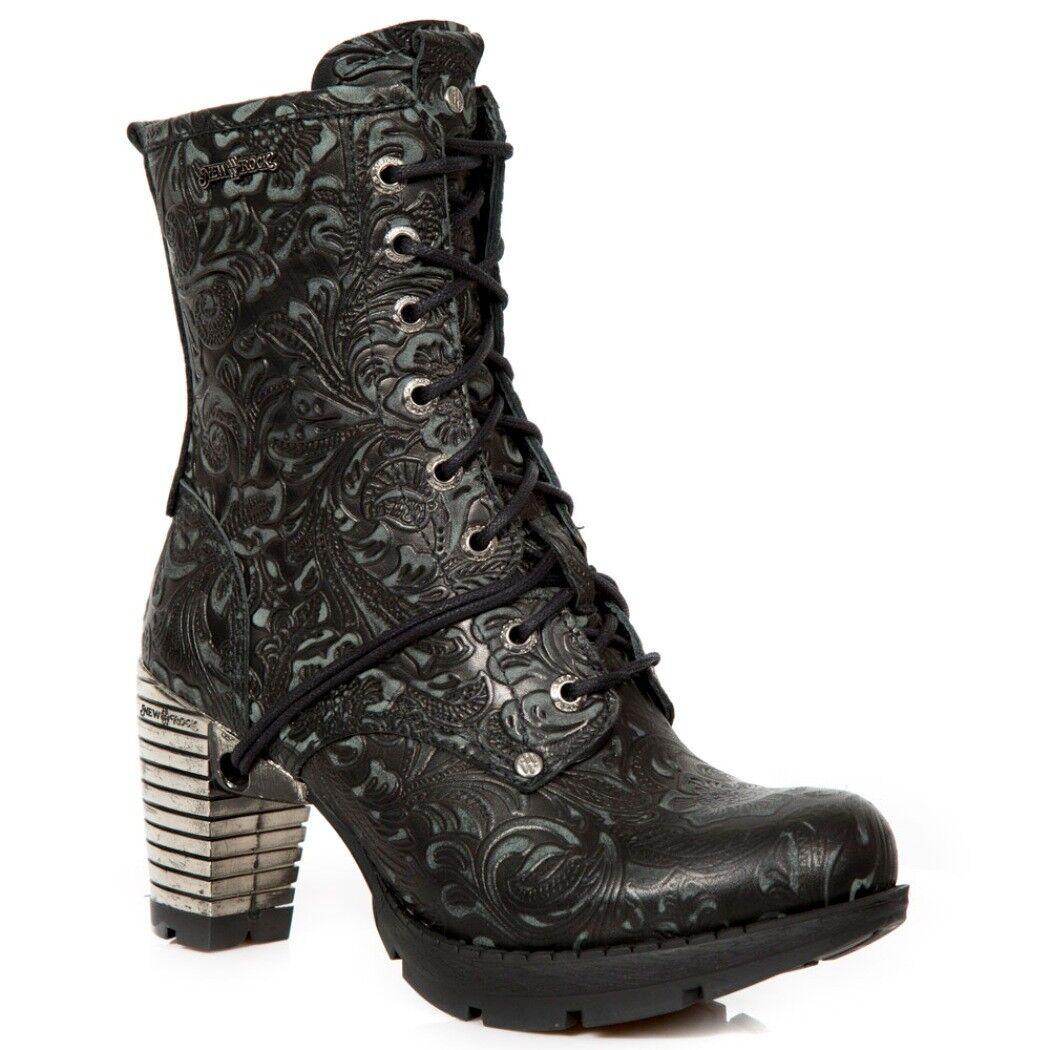 NEWROCK NEWROCK NEWROCK NR M. TR001 S24 botas negras - botas nuevas de rock - mujer ba4c40