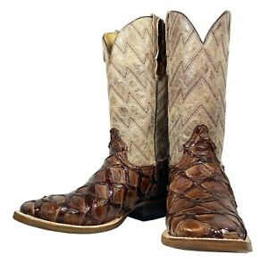 Men-039-s-Stetson-Arapaima-Fish-Boots-Choco-MSRP-899-BUY-IT-NOW-349