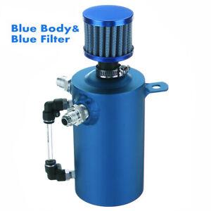 0-5L-Serbatoio-Vaschetta-Recupero-Vapori-Cattura-Olio-Alluminio-Universale-Blu