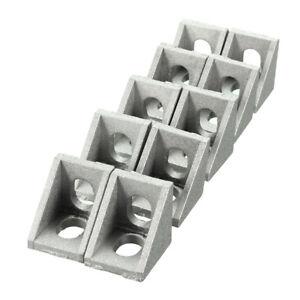 Aluminium-Assemblage-d-039-angle-Angle-Droit-Support-meubles-accessoires-10pcs-20x20mm