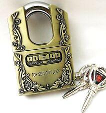 Anti-Theft Hard Steel Keyed Padlocks High Security Vintage Locks-3 Keys