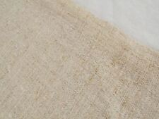 Vtg Antique PLAIN NUBBY HEMP LINEN UPHOLSTERY Fabric FEED SACK GRAIN BAG 19X56