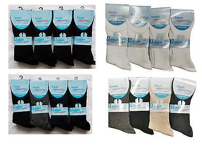 12 Pairs Mens Non Elastic Socks Comfort Grip Loose Top Cotton Socks 6-11