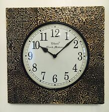 Indio Estilo Antiguo manualidades Reloj De Pared Madera Regalo Decoración étnico
