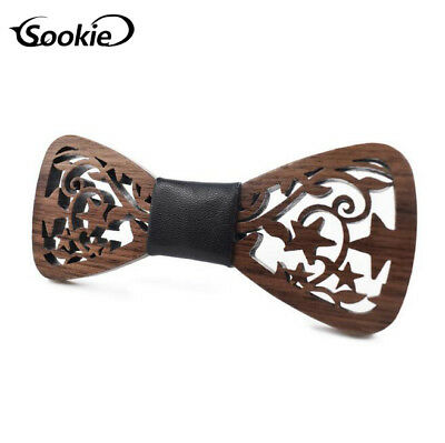 SOOKIE Fashion Handmade Wooden Bow Tie Men/'s Gift Wedding Wood Bowtie Christmas