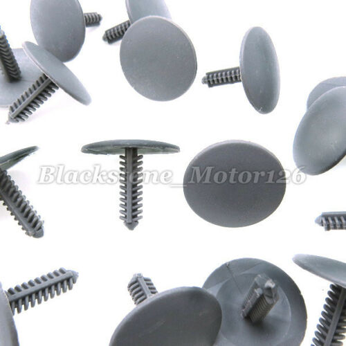 30//Pk Automotive Retainer 6mm Hole X-Mas Tree Push Type Clip Bumper Fender Rivet