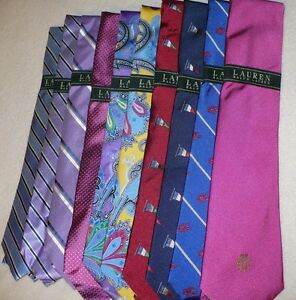59-NEW-NWT-LAUREN-RALPH-LAUREN-MEN-039-S-NECK-WEAR-TIE-HAND-MADE-SILK-COTTON-LRL