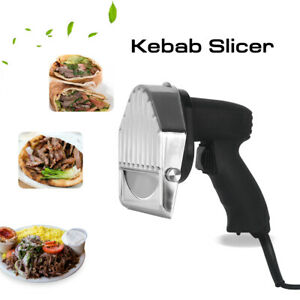 Electric Kebab Slicer Shawarma Doner Meat Cutter CE Gyro Carver Machine 2 blades