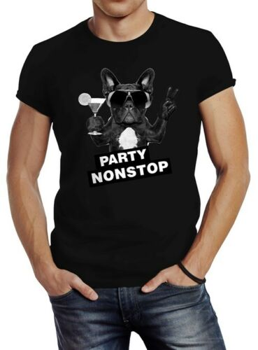 T-shirt Hommes fête sans escale BALAIS FRENCH BULLDOG slim fit Neverless ®