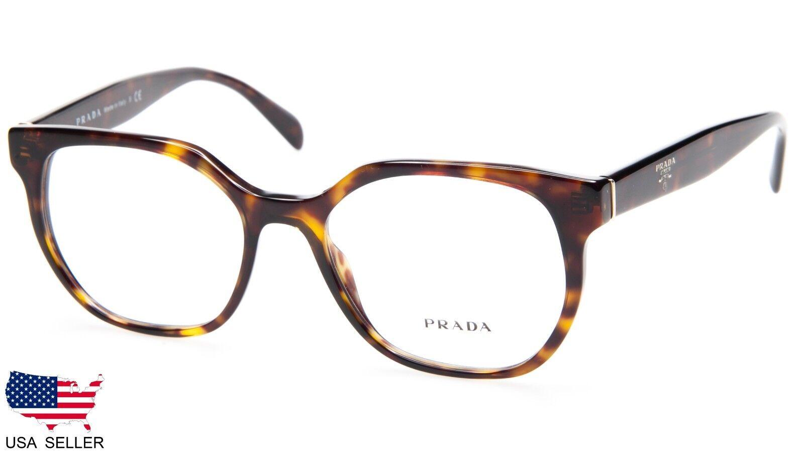 05af27987086 PRADA VPR 02u 2au-1o1 Havana Eyeglasses Glasses Frame 52-17-140 ...