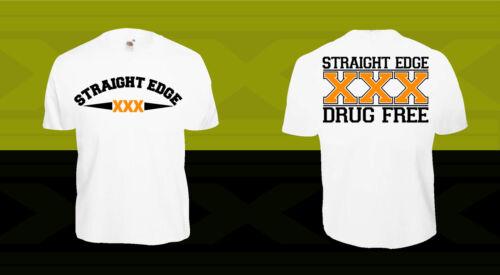 STRAIGHT EDGE T-Shirt SXE XXX XrX Hardcore Punk Minor Threat HC Black Flag Vegan