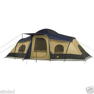 Ozark-Trail-10-Person-3-Room-XL-Camping-Tent-20-039-x-11-039-Family-Picnic-Queen-Space