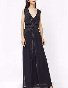 French-Connection-Oriental-Embellished-Sheath-Broadway-Maxi-Dress-8-and-10