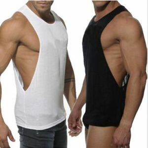 Hombre-Culturismo-Camiseta-De-Tirantes-Gimnasio-Fitness-Singlet-Sin-Mangas