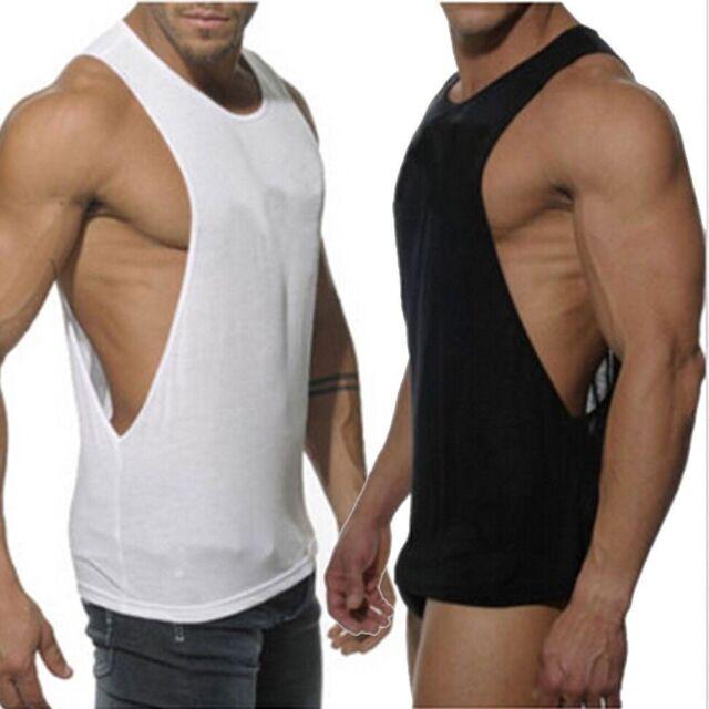 Hombre Culturismo Camiseta De Tirantes Gimnasio Fitness Singlet Sin Mangas