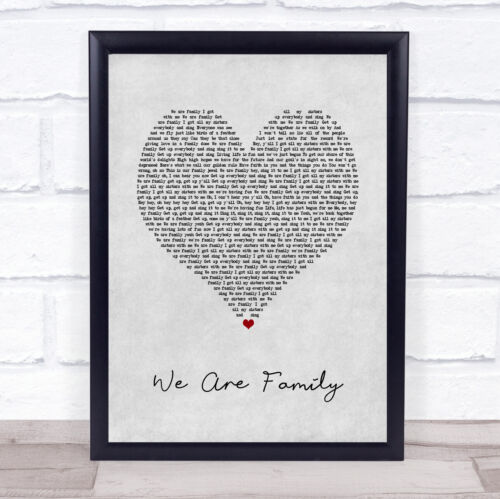 Nous sommes famille cœur gris chanson LYRIC Imprimer