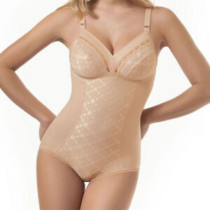 Body Sìélei Smooth Shaper Embroidered White White Nude Sizes Great Art. 811