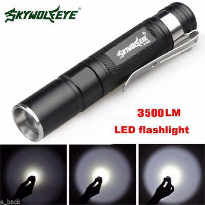Skywolfeye XPE LED Flashlight Zoomable Outdoor Torch Home Emergency Light Lamp