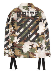 New-Street-Men-039-s-Oversized-Justin-Bieber-Off-White-Camouflage-Military-Jacket