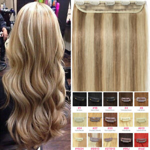 CLEARANCE-One-Piece-THICK-Clip-in-Human-Remy-Hair-Extensions-16-034-18-034-20-034-22-034-P688